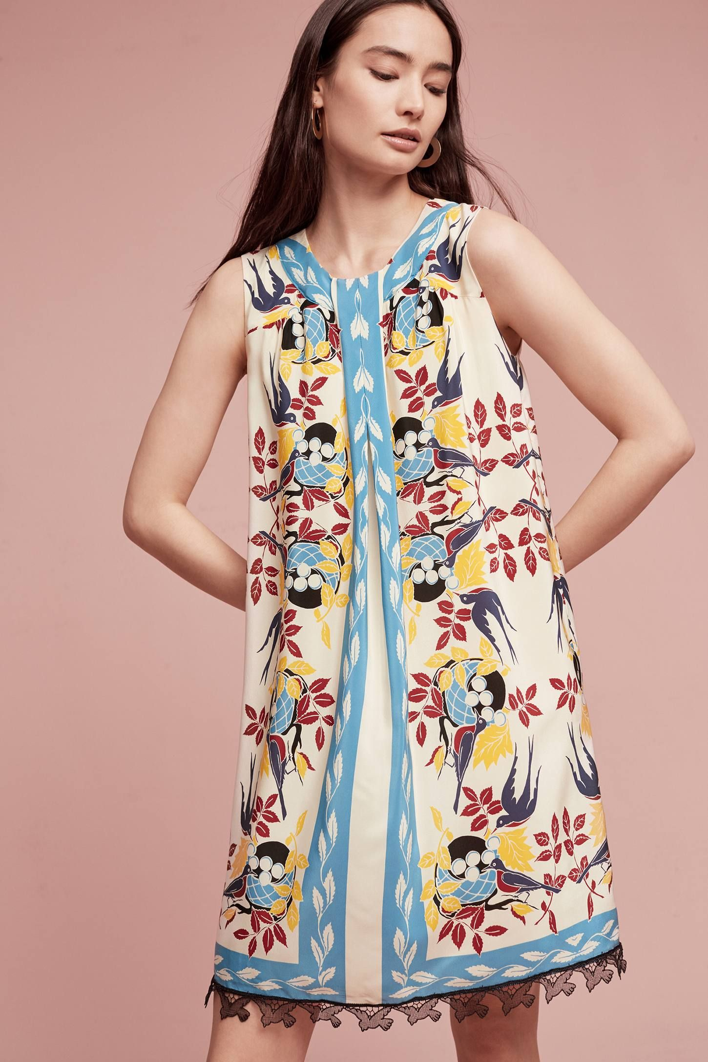 87624857c2f7 Shop the Bird's Nest Silk Tunic Dress and more Anthropologie at  Anthropologie today. Read customer reviews, discover product details and  more.