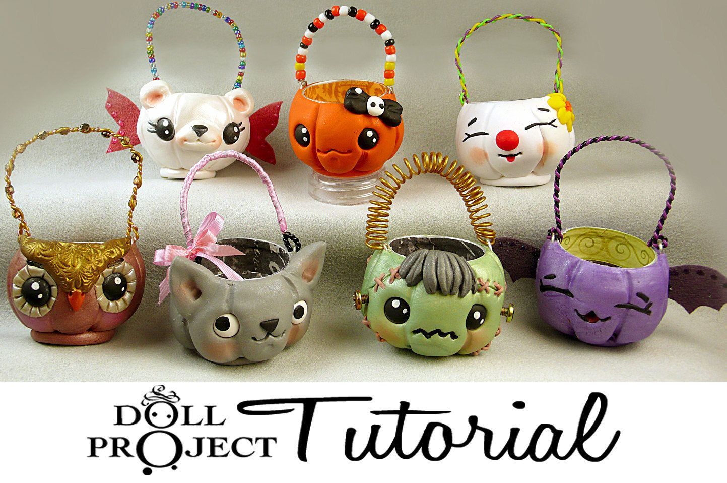 Halloween Candy Pails PDF Tutorial for Doll Costumes and Autumn Ornaments Learn to Sculpt Polymer Clay Pumpkins. $12.00, via Etsy.