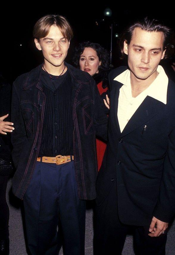 Leonardo DiCaprio with Amber Heard's ex-husband