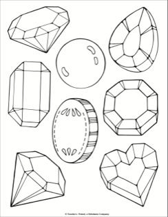 Jewel And Treasure Coloring Page Shape Coloring Pages