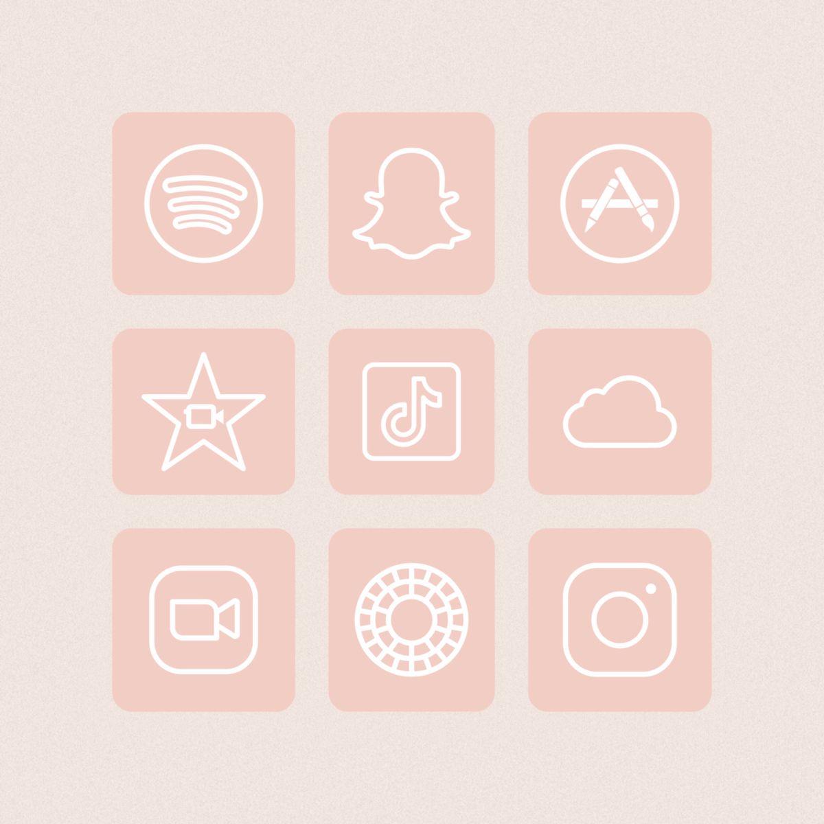 Ios 14 Como Cambiar Iconos De Apps Vectores Gratis The Media Style Peach App Ios App Iphone Iphone App Design