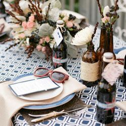 A fun take on a wedding shower: co-ed with a retro theme! Invite your groomsmen + your bridesmaids for a chic hang out!
