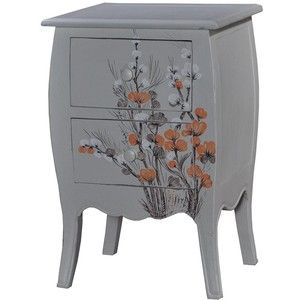 Linea Wildflower 2 Drawer Bedside Chest In Grey From House Of Fraser