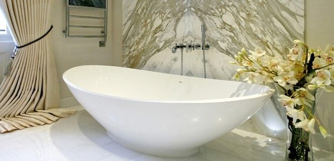 Contemporary freestanding bath from BC Designs. Subtle elegance at its best.