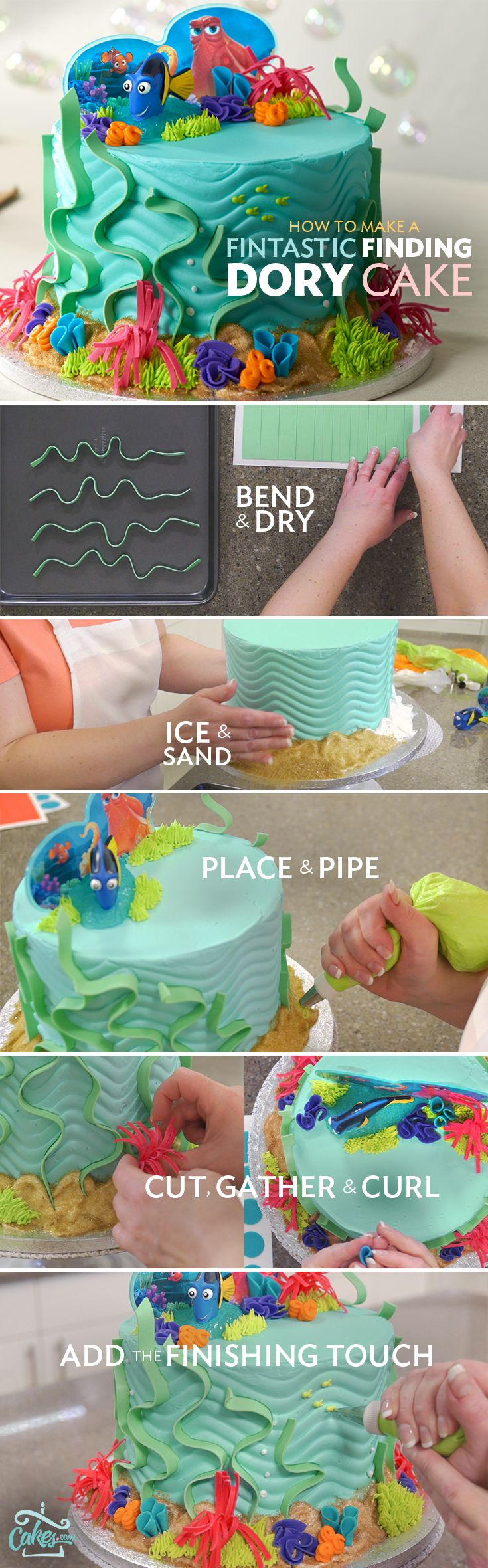 Order a Cake from a Local Bakery disney Pixar Coral reefs and Seaweed