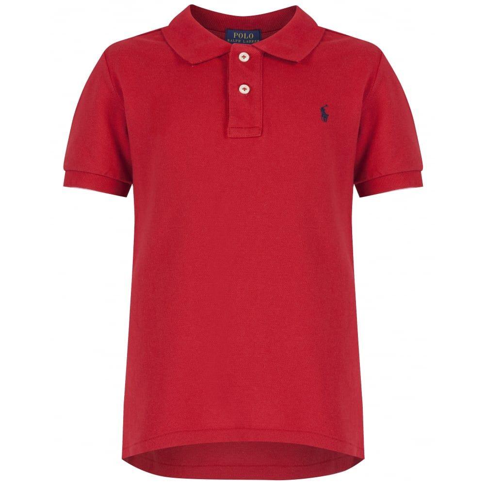 Ralph Lauren Boys Red Classic Polo Shirt