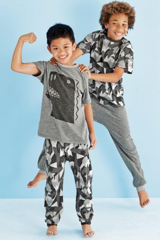 1fc8cbccae8f6 Buy Two Pack Mono Dino Geo Pyjamas (3-16yrs) from the Next UK online shop