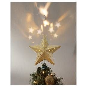 Lit Led Star Projection Tree Topper Assorted Styles Wondershop Target Tree Toppers Christmas Decorations Christmas Ornaments