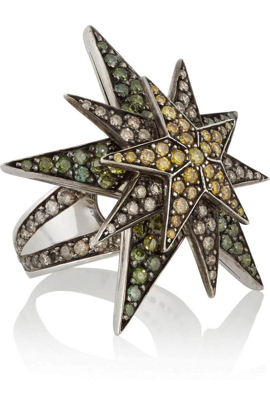 Centarus 18-karat white gold diamond ring | Ileana Makri