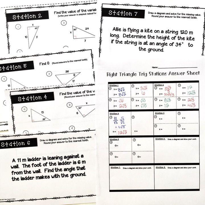 Right Triangles Soh Cah Toa Sin Cos Tan Intro To Trigonometry