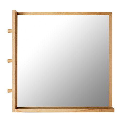 RÅGRUND Spiegel Bamboe 53x50 cm - Spiegel, Bamboe en Ikea
