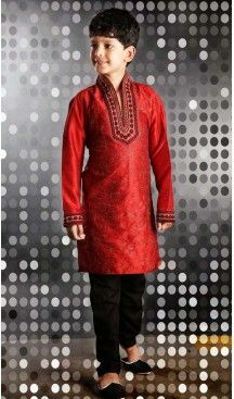 35ba5f446532f Marvelous Red Boys Wear Kurta Pyjama #boys, #kurta, #sherwani ...