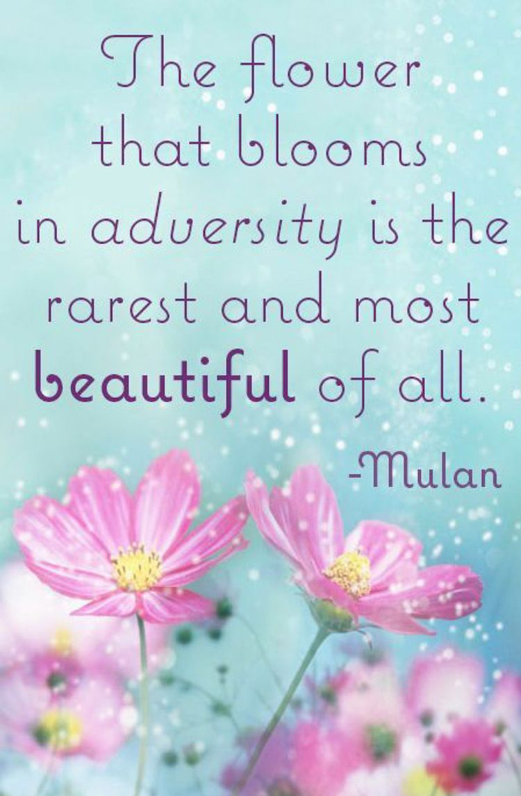 The Flower That Blooms in Adversity Is...