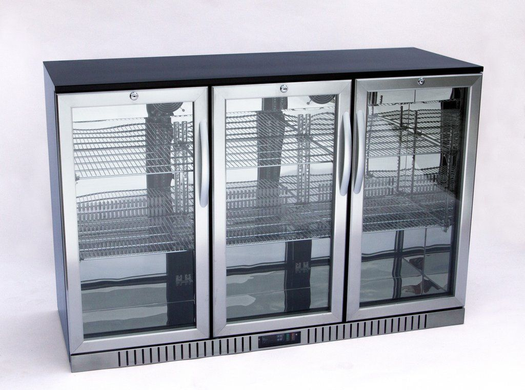 3 Door Back Bar Cooler Stainless Steel Back Bar Coolers