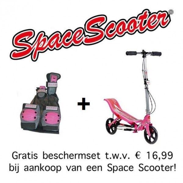 Space Scooter Roze + Gratis beschermset