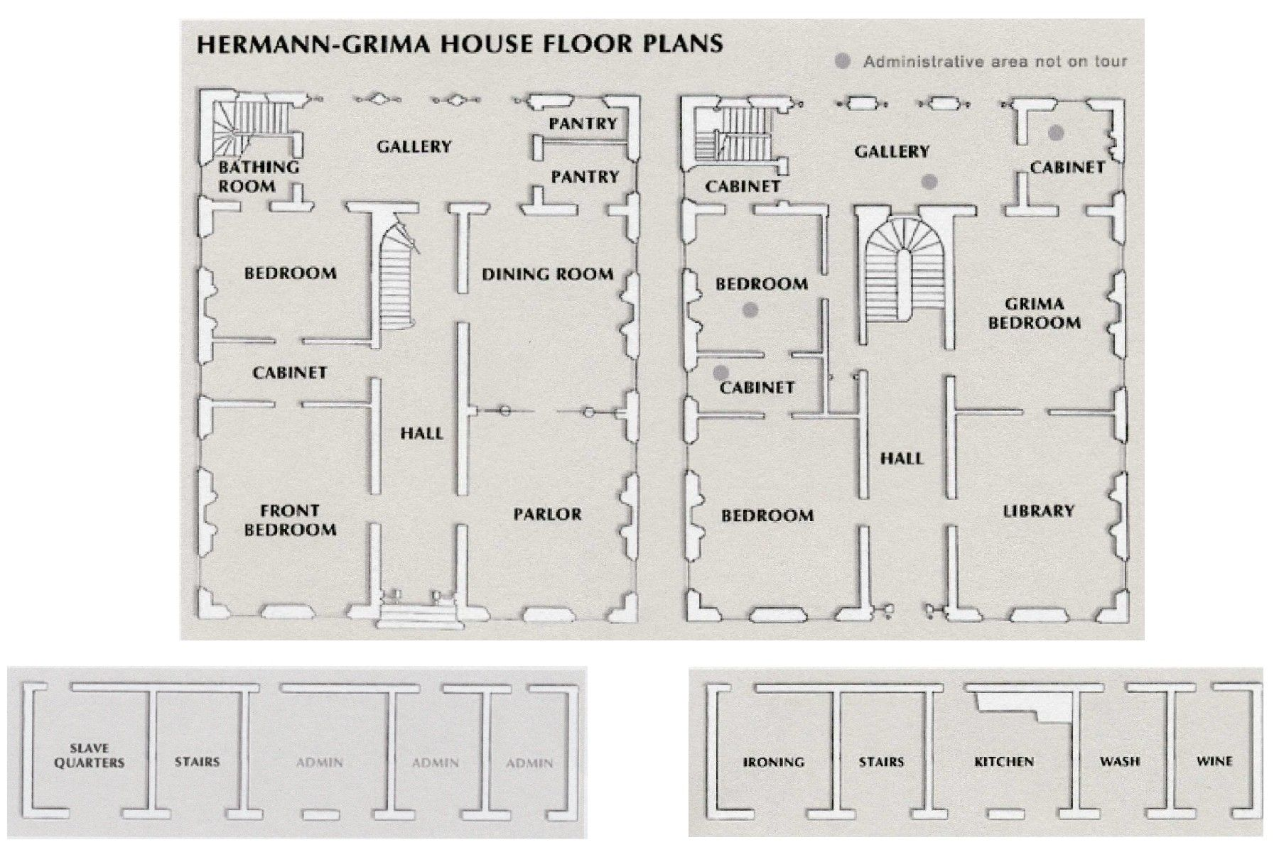 The Floor Plans To The Hermann-Grima House In The French