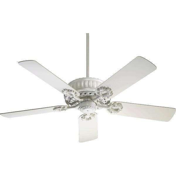 Quorum 35525 8 Empress 52 Inch Ceiling Fan In Studio White Ceiling Fan 52 Inch Ceiling Fan White Ceiling Fan