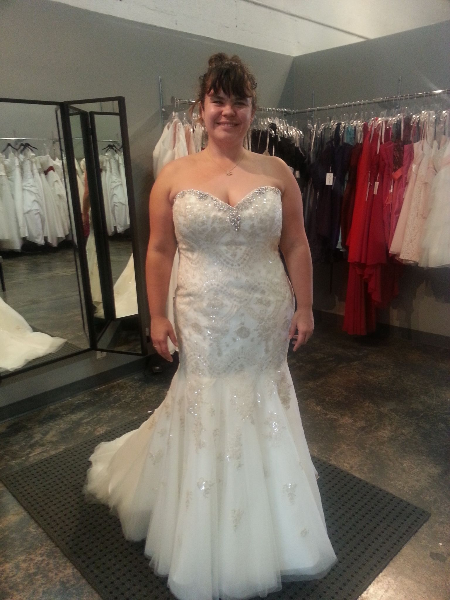 blinged out plus size wedding dresses cold shoulder