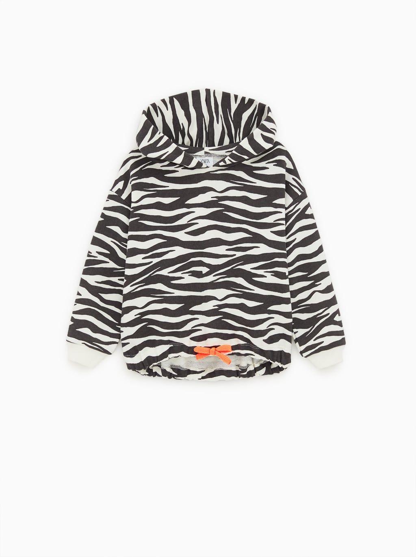 d7e689428a Zebra print hoodie | Zara kids | Zebra print, Hooded sweatshirts ...