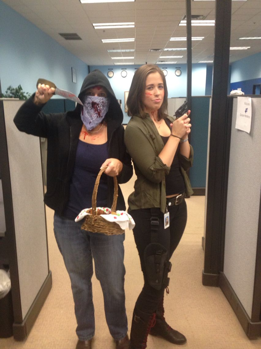 Me and Rebecca as Maggie and Carol from #thewalkingdead !