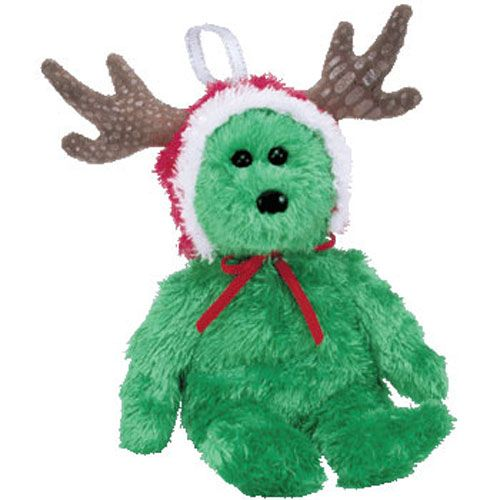 TY Jingle Beanie Baby - 2002 HOLIDAY TEDDY (Green Version) (5.5 inch ... 7874f0687206