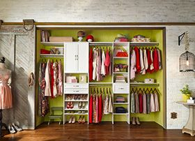 New Products & Offers | ClosetMaid- At the back of the room and add hanging sliding doors.