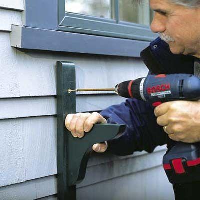 How to Hang a Window Box | Window box brackets, Planters and Window