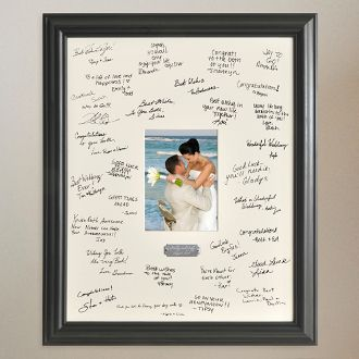 Wedding Wishes Signature Frame Wedding Guest Signatures Wedding Frames Signature Picture Frame
