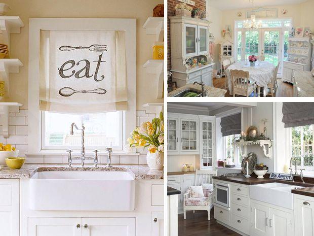 Tende da cucina cerca con google tende pinterest - Tende shabby chic cucina ...