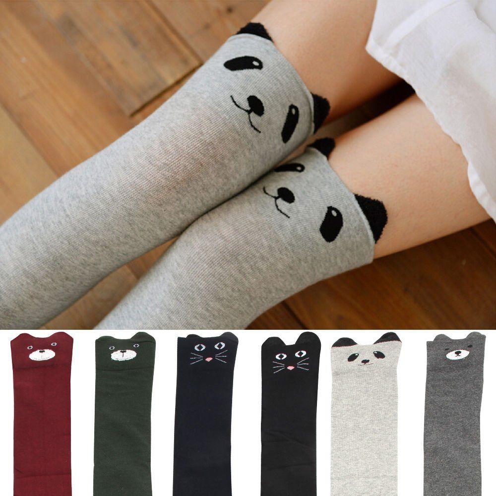 Womens//Girls Beautiful Flower Casual Socks Yoga Socks Over The Knee High Socks 23.6