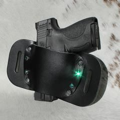 """The Bagheera"" Holsters for Women by Concealed Carry Wear set with teal colored Swarovski Crystals, available at www.wearccw.com"