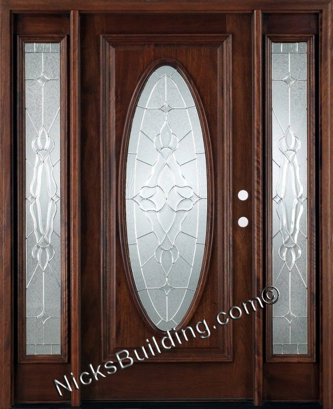 Exterior Wood Doors With Two Sidelights Quick Ship Front Doors