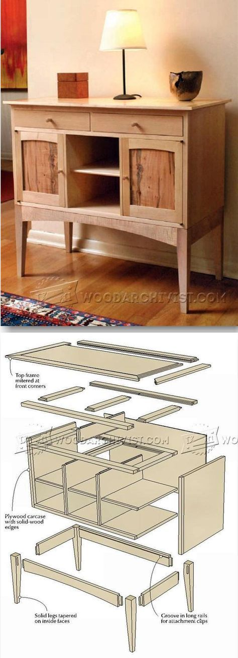 build sideboard furniture plans and projects carpentry pinterest. Black Bedroom Furniture Sets. Home Design Ideas