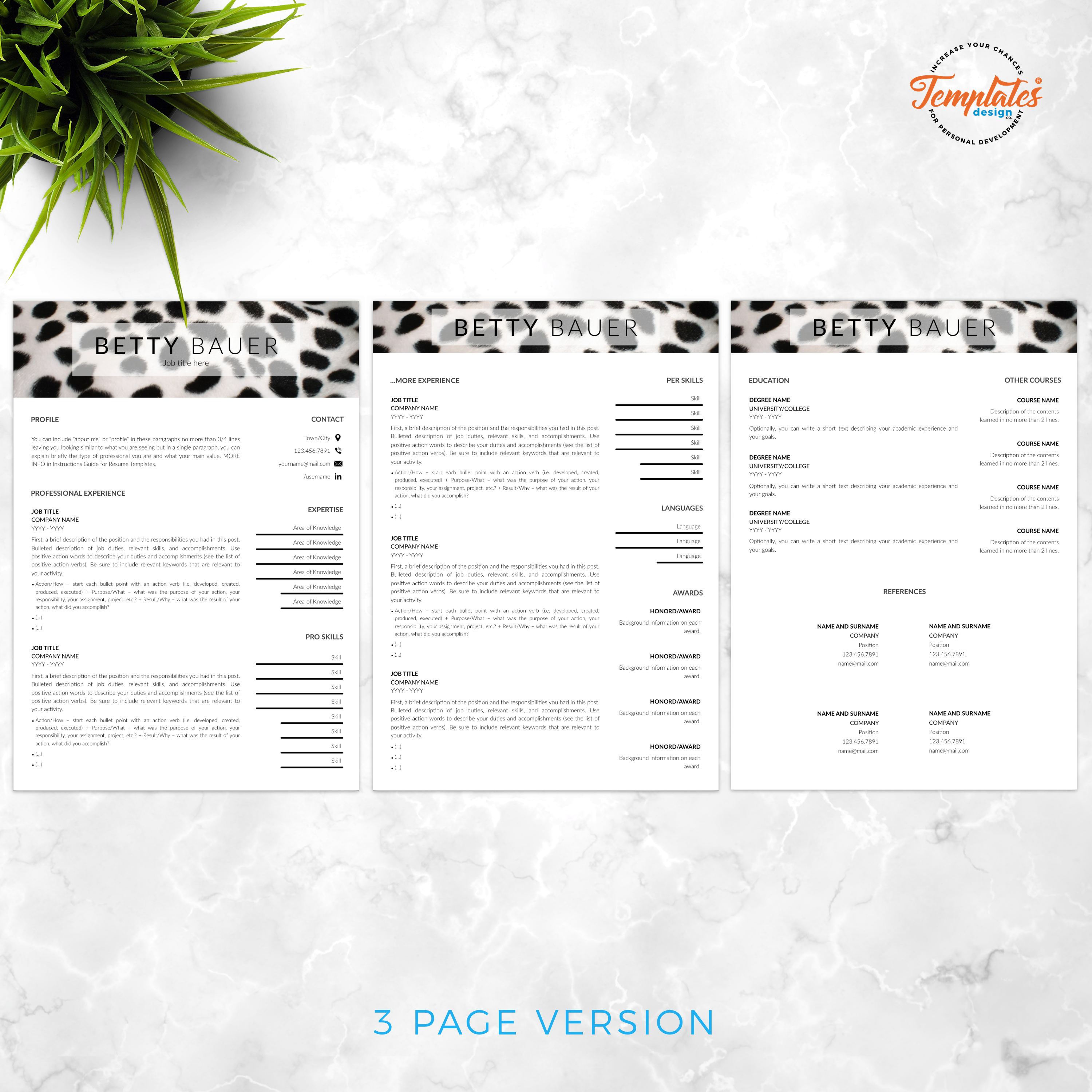 Resume Template For Ms Word Docx Pages Pages With Us Letter Size Files And A4 Size Files 1 Resume Templates Creative Resume Templates Creative Resume