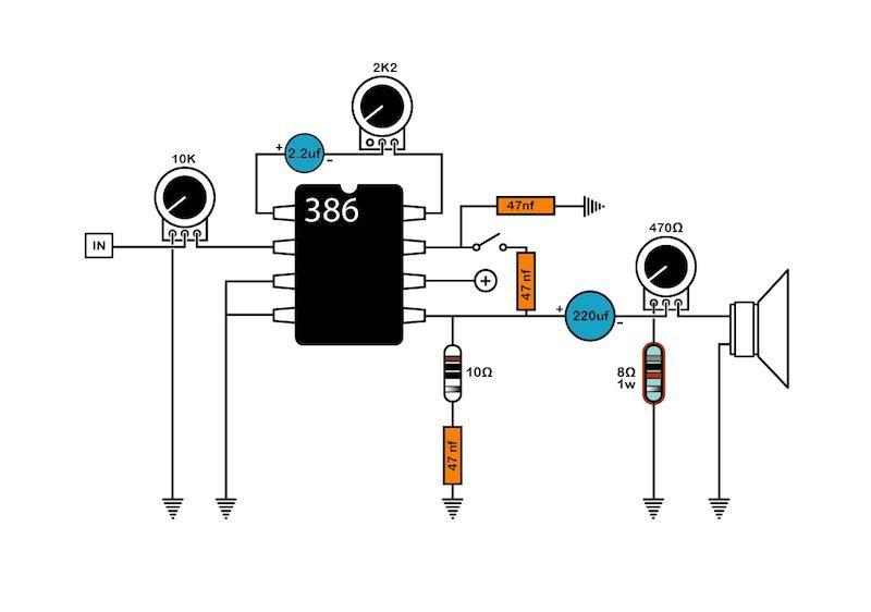 Mylk Blog 386 Amp Project Electronics Circuit