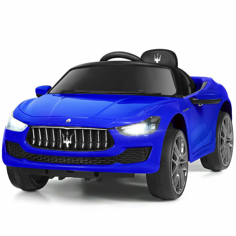 Kids Ride On Sport Super Car Maserati Style Mp3 Usb Led Best Offer Rc Horn Blue Unbranded In 2020 Kids Ride On Rc Remote Maserati