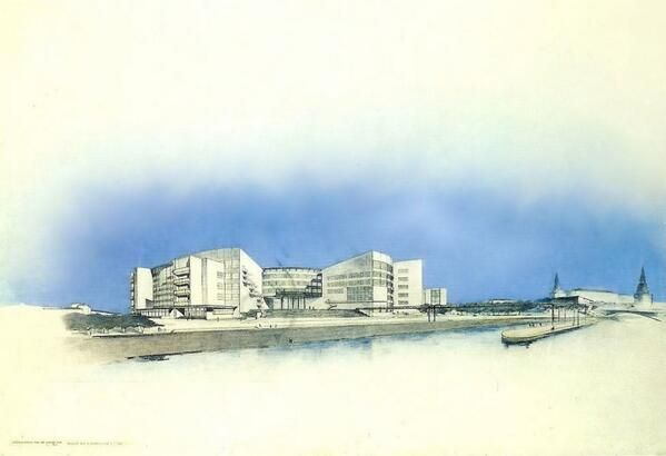 Propuesta para el Palacio de los Soviets, Moscú_Walter Gropius