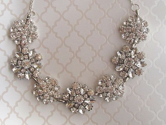 $45 https://www.etsy.com/listing/126114094/bridal-necklace-crystal-silver-statement