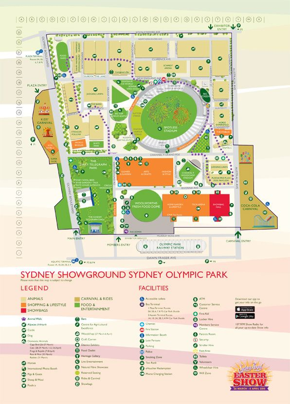 Royal Easter Show Map Show Map || Sydney Royal Easter Show | LOCAL STUFF! | Show map  Royal Easter Show Map