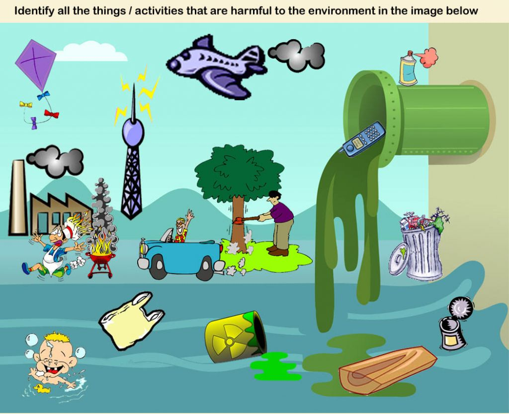 Drawing competition environmental pollution water pollution image collection
