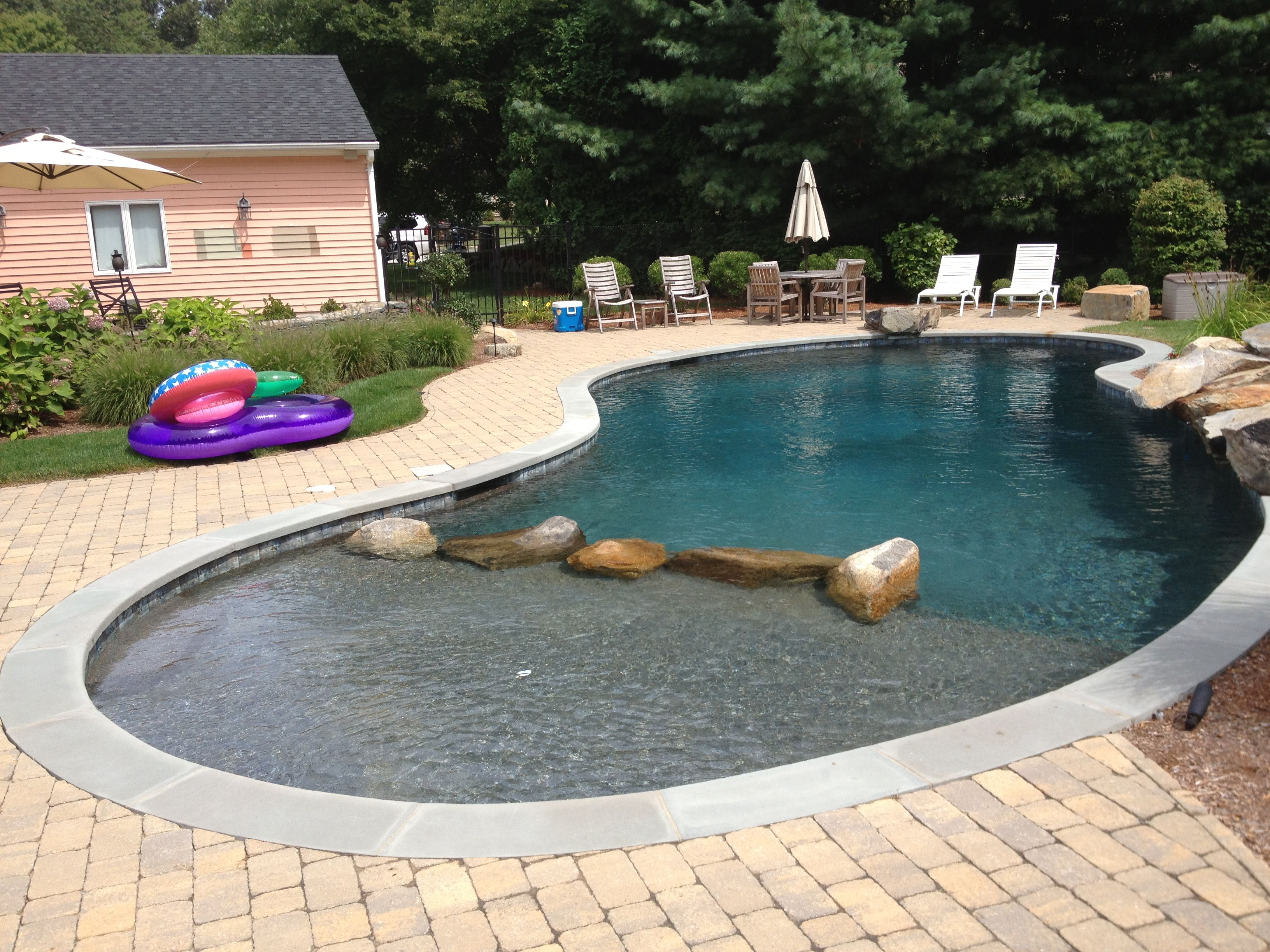 Freeform Gunite Pool In Warwick, RI   Dynasty Gunite U0026 Fiberglass .