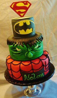 Ideias Bolos Decorados Super Herois | Hulk birthday cakes