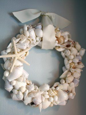 How to make a Seashell Wreath, from My Romantic Home.