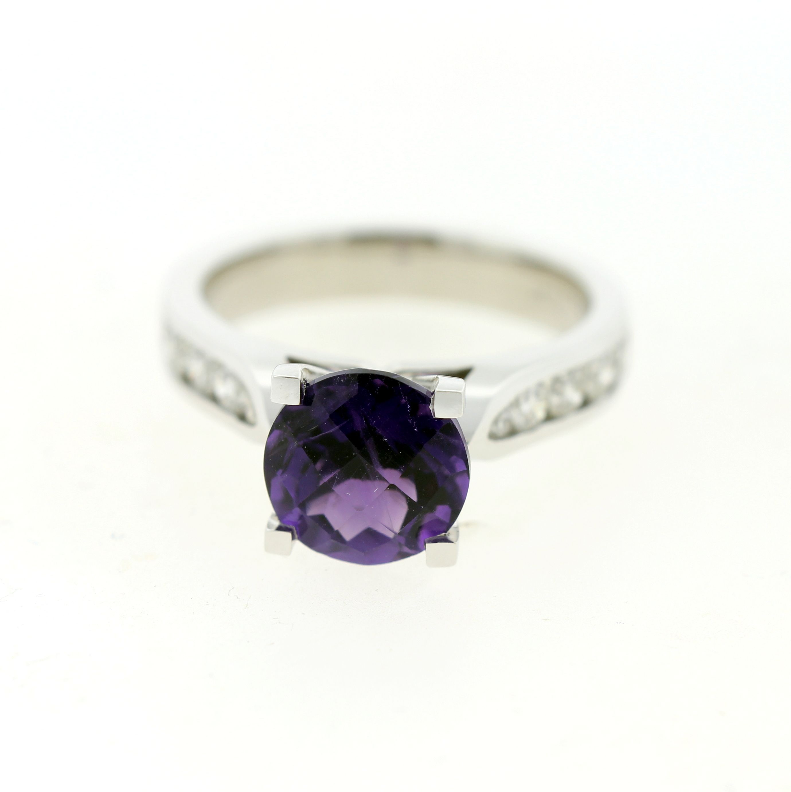 ring halo split amethist cz amethyst with and watch diamond pear cut shank engagement rings double