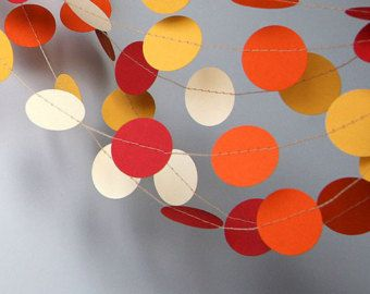 Paper garland Birthday Decorations Circle garland Photo props