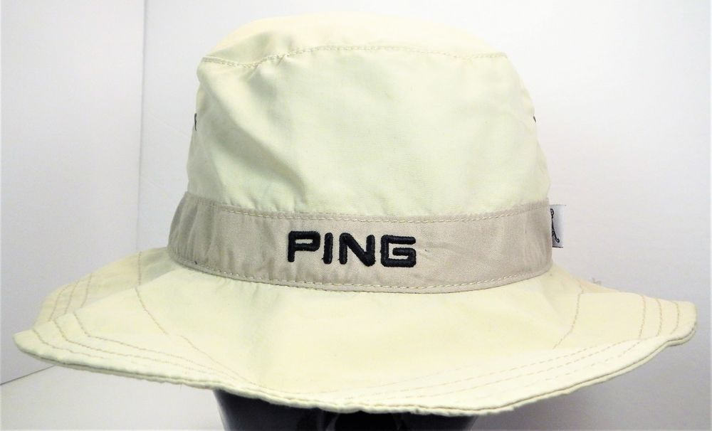 8e4f4e3b18d Rare PING Golf Floppy Boonie Bucket Hat Sz L XL Tan Khaki w Embroidered  Logo  Ping  PingGolf  Golf  Hat  GolfHat  BucketHat  BoonieHat  Boonie   Bucket ...