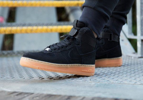 Style Suede High Nike 1 Air Force Chaussures Black GumLife byY6gf7