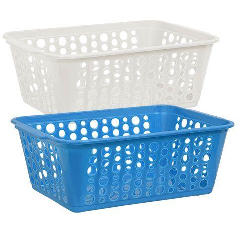 Bulk Large Rectangular Slotted Plastic Storage Baskets At Dollartree Com Storage Baskets Plastic Storage Storage