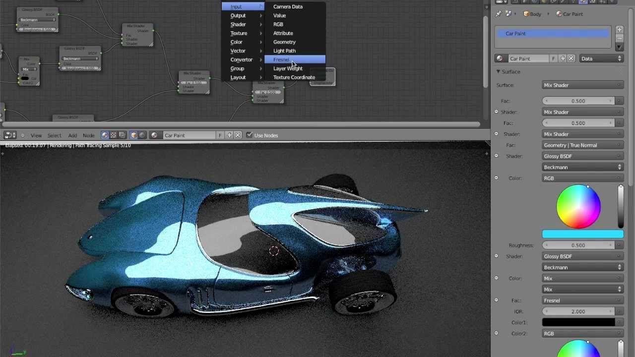 Car Paint Tutorial Blender 2 63 Cycles Part 2 3d Modeling Tutorial Blender 3d Blender Tutorial