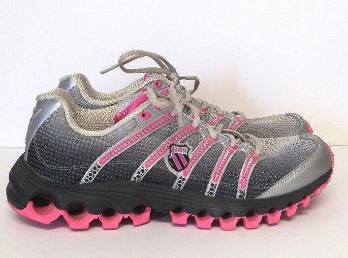 312d3559a20e K Swiss Aosta II Running Shoes Women s 10 M Black Pink Silver Grey Trainers   KSwiss  RunningCrossTraining